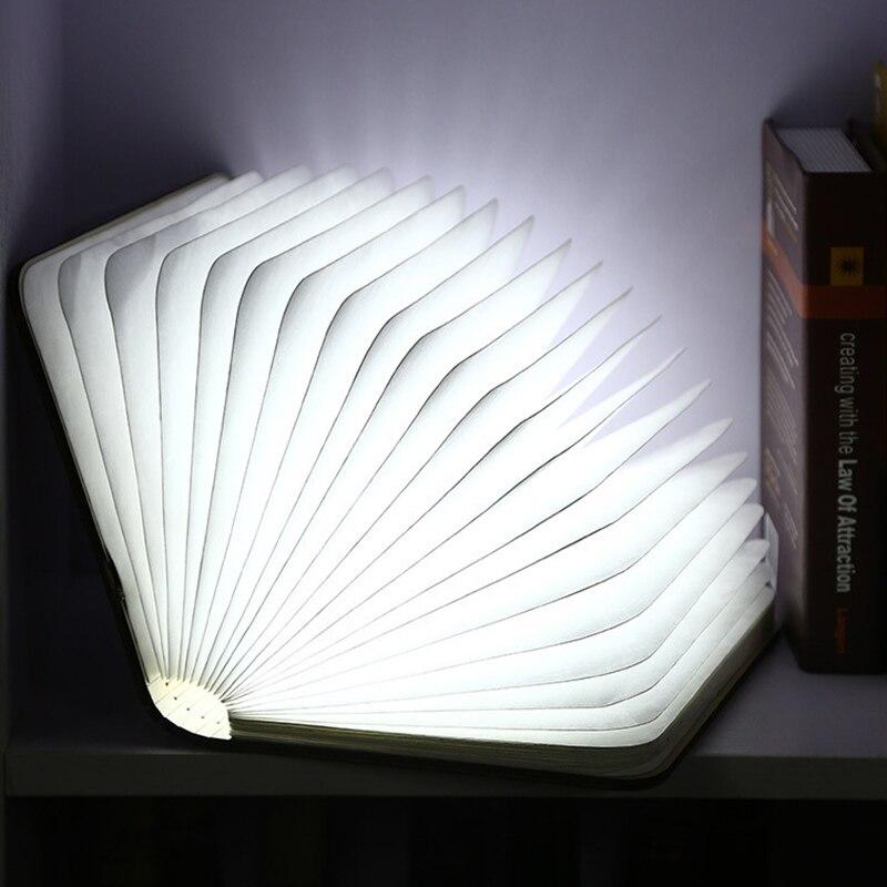 Mode en bois pliant LED veilleuse 'Booklight' & LED pliant livre lampe USB Rechargeable beau Design un cadeau parfait