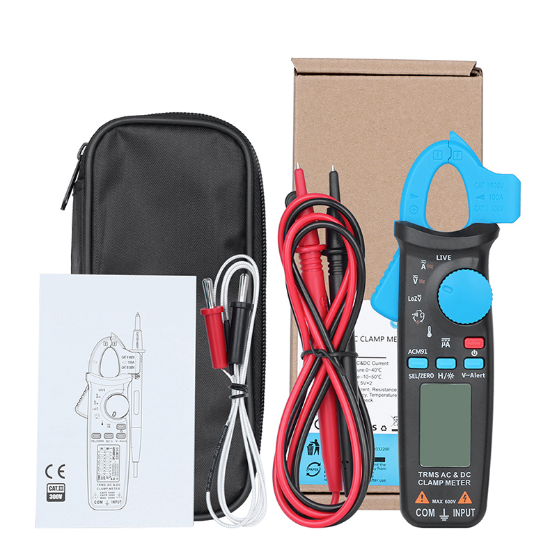 ACM91 TRMS AC/DC Current Frequency Multi Purpose Clamp Ammeter Professional Digital Clamp Meter Tester цены