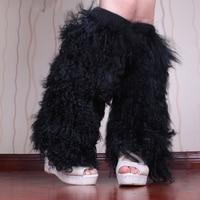 Mongolian Lamb Fur Leg Warmer Tibet Sheep Fur Boot Topper Real Sheep Fur Boot Cover