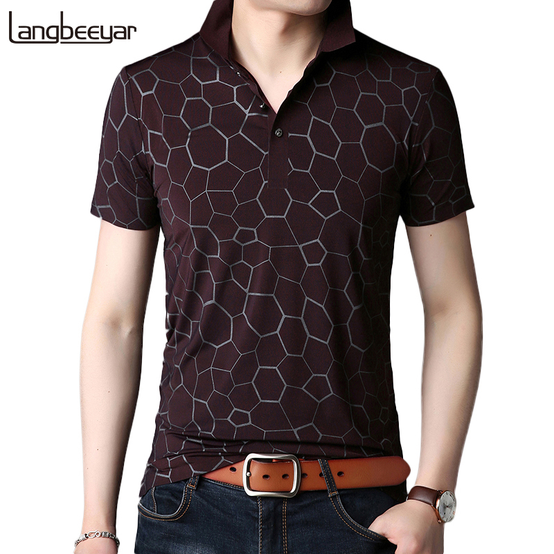 2019 New Fashion Brands   Polo   Shirt Men Casual graphic   Polo   Slim Fit Mens   Polo   Shirts With Short Sleeve Button Summer Men Clothes