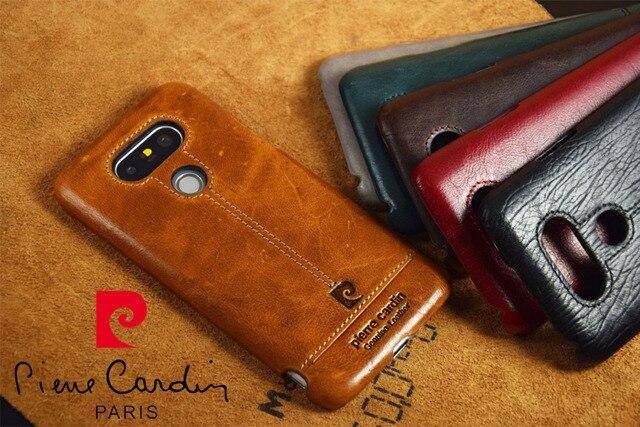 Пьер Карден Case Для LG G5 Натуральная Кожа Твердый Переплет Бесплатная Доставка