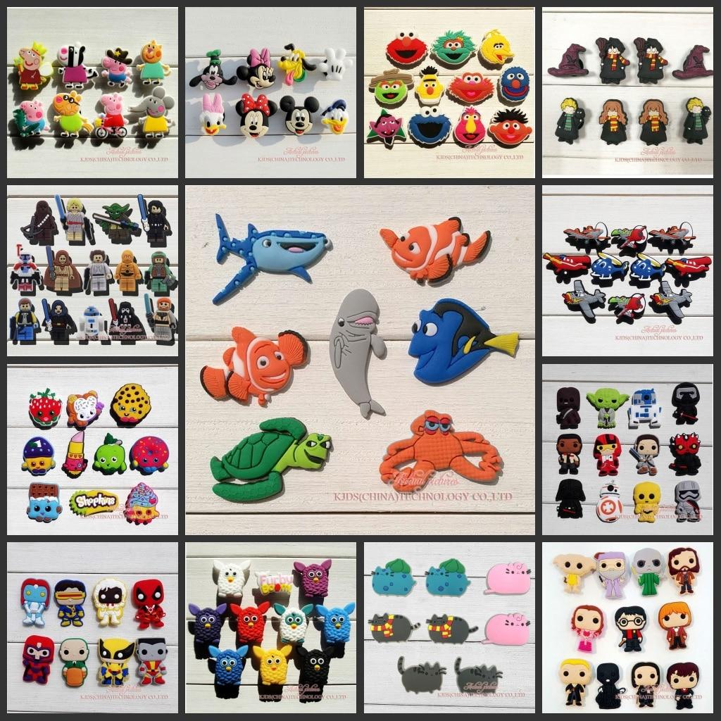 Free DHL 3000Pcs Tsum Tsum Trolls PVC Shoe Charms Shoe accessories Shoe Decoration Fit For Bandwrist