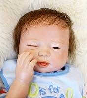 45 см 18 дюймов Bebe куклы Reborn Реалистичного Baby Doll младенцев реборн один глаз открыть закрытые для детский день рождения Рождественский подарок