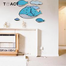 Cartoon Whale Wall Clocks Children's Watches Accessories Clo