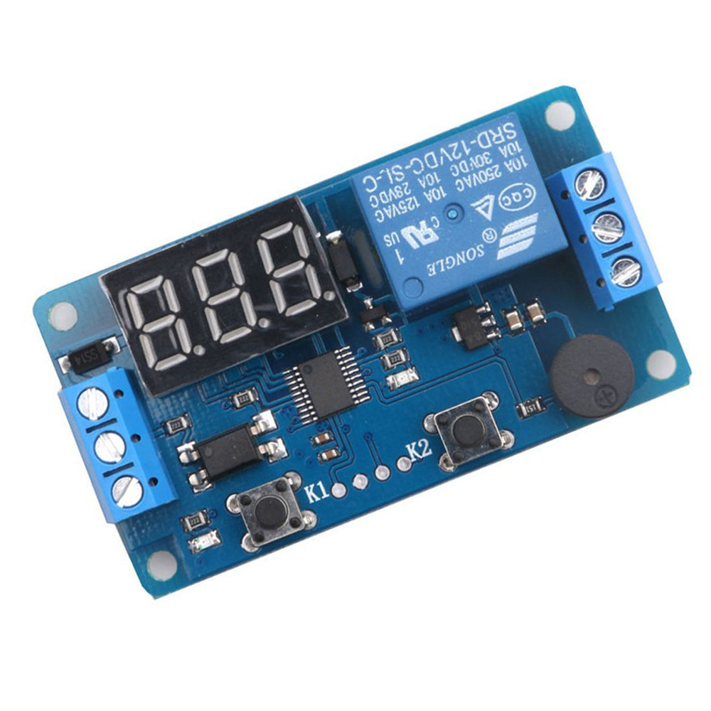 Hot Sale Digital Led Display Time Delay Relay Module Board Dc 12v Circuit Timer Switch Control Programmable Trigger Plc Automation Car Buzzer