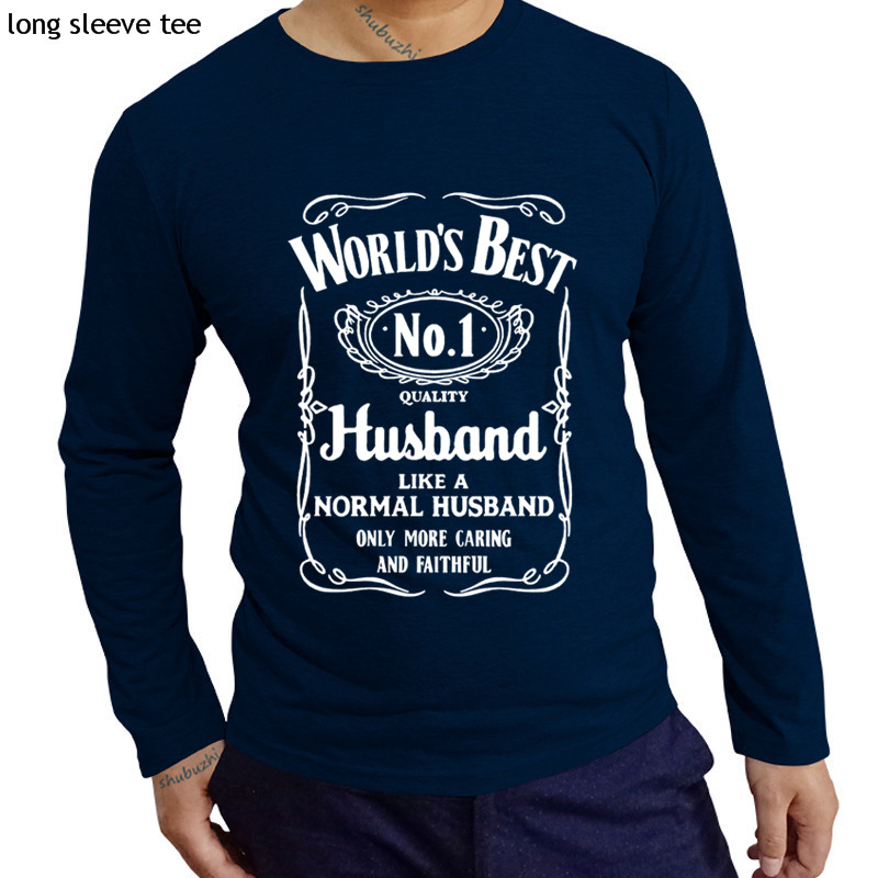 c6c4fab6 cotton tshirt men long sleeve tops World's Best Husband T-Shirt Funny  Fathers Day Dad