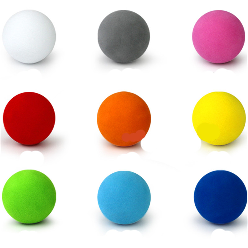 30pcs 42mm EVA Foam Golf Soft Sponge Monochrome Balls For Outdoor Golf Practice Balls For Golf/Tennis Training Solid 9 Colors