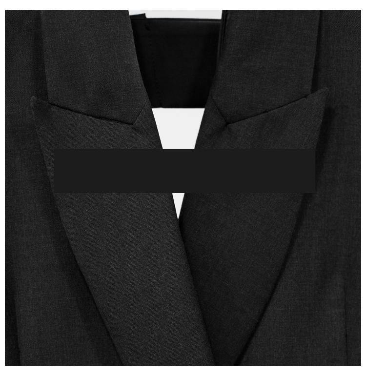 Nouveau Arc Mode Black Loosea Getsring Blazer Noir Femmes Manteau Top Irrégulière 2018 Manteaux Évider Vintage Casual Costume SHFPq