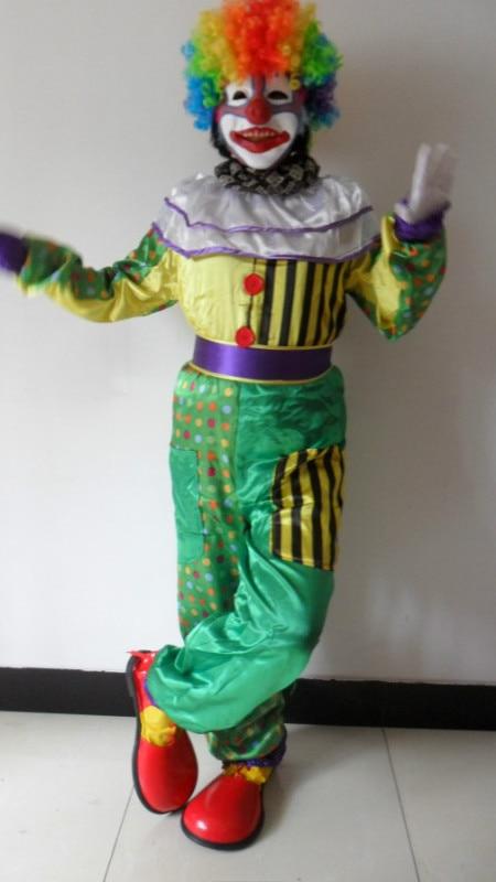 Livraison gratuite magie adulte clown Hallowmas vêtements juste clown costume pour spectacle de magie accessoires de magie tours de magie