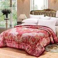 100% Lã Merino Luxo Throw Blanket Mantas de Cama Twin Size  fofo e Macio  Quente Cobertor Lance para Sofá/Cadeira 200 cm x 230 cm