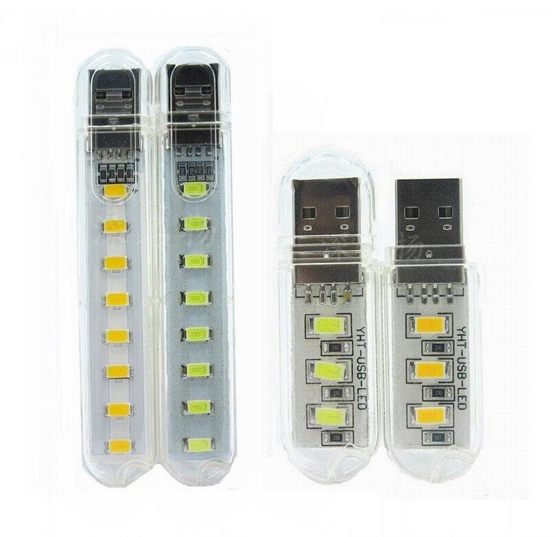 500pcs Mini USB drive LED Night Light Lamp Flashlight Keychain Lamp Portable USB Power Pure White