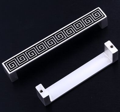 96mm silver white Kitchen cabinet handles pull black drawer dresser cupboard  wardrobe furniture door  handles knobs pulls 3.8 new luxurious kitchen wardrobe cabinet knobs drawer door handles pull handles furniture hardware 64mm 96mm 128mm