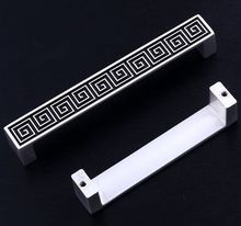 96mm silver white Kitchen cabinet handles pull black drawer dresser cupboard  wardrobe furniture door  handles knobs pulls 3.8″