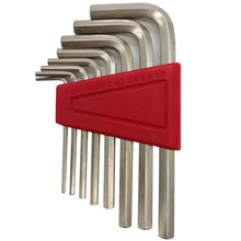 8pcs Size L Shape Hexagonal Hex Keys Wrench Hex Spanner Set CRV