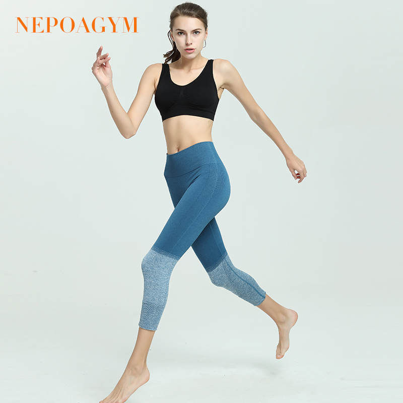 e4e986aa2d15d2 Nepoagym Women Seamless Yoga Crop legging Squat Proof Yoga Pants Sports  Capri Tights Moisture wicking Fitness Pant-in Yoga Pants from Sports &  Entertainment ...