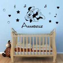 Konfigurowalny nazwa postać z kreskówki ścienne winylowe aplikacja chłopiec dziewczyna pokoju home tapeta dekoracyjna mural artystyczny DZ39