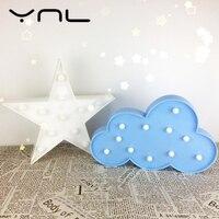 YNL 3D LED Night Light SFlamingo Pineapple Cactus Star Cartoon Children S Night Lamp Christmas Decor