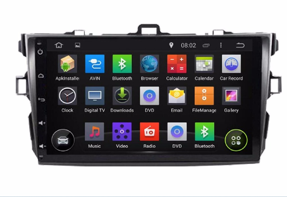 9 Octa/Quad Core Android 7.1/6.0 Fit TOYOTA Corolla 2007-2012 Car DVD PLAYER Multimedia GPS Radio DVD GPS AUDIO RADIO STEREO FM
