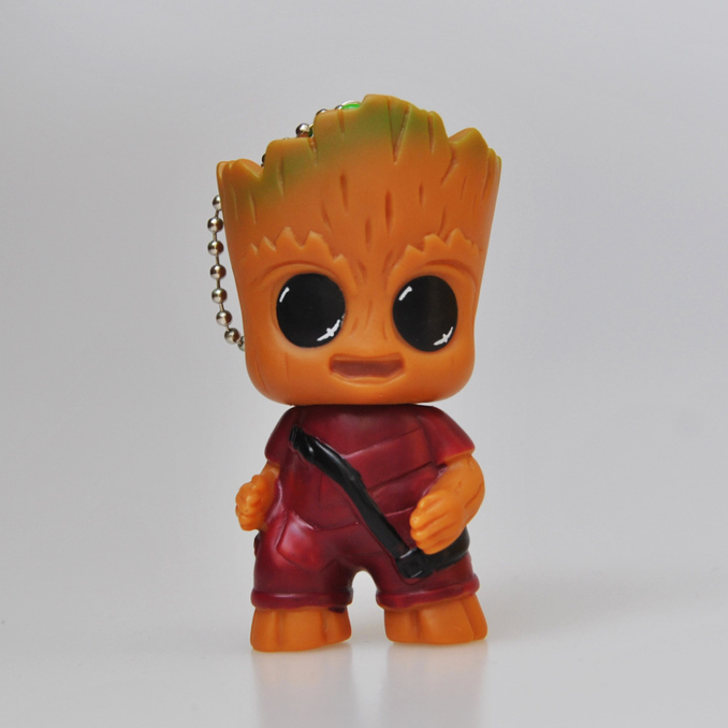New Cute Anime Figure Guardians Of The Galaxy Mini Cute Tree Man Baby Tree Model Action And Toy Figures Cartoon Cake Doll