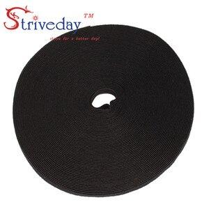 Image 5 - 25 メートル/ロールマジックテープナイロンケーブルタイ幅 1 センチメートルケーブルワイヤーネクタイイヤホンワインダー velcroe ネクタイ 6 色から選択
