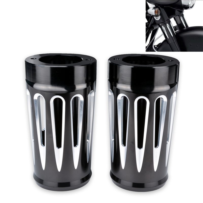 Motorcycle Upper Fork Boots Shock Absorber Cover Cap for Harley Tourring and Trike models 1980-2013 Hot Styling Components motorcycle upper fork boots shock absorber cover for harley sportster 883 1200 2000 2015