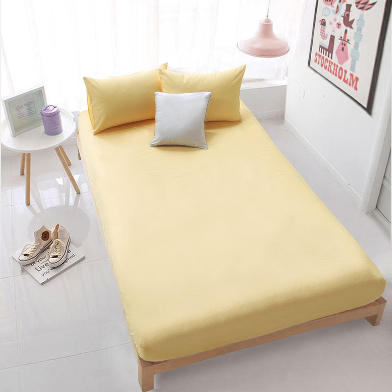 Fitted Sheet (Multi size) 1pc Bedding Bed Sheet with elastic Deep Pocket 100% cotton white beige green mattress protector