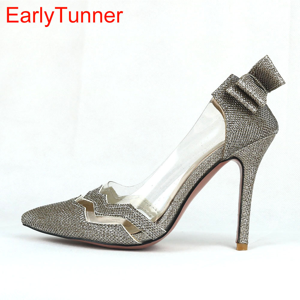 2017 Brand New Gold Silver Women Party Bridals Dress Pumps Black High Heels Sexy Lady Casual Shoes EM17 Plus Big Size 31 47 12 quality brand new sexy black red women glossy platform pumps purple high heels lady bridal shoes em10 plus big size 11 31 43 45