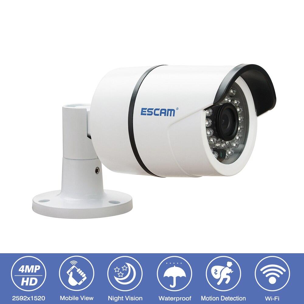 Escam QD410 Extérieure Étanche CCTV de Sécurité de Surveillance IP Caméra 4MP 1520 p Onvif IR Vision Nocturne Sans Fil Bullet Wifi Caméra