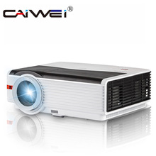 CAIWEI LED HD Video Home Camera Projector LCD Multimedia Entertainment Proyector 5000 Lumens HDMI USB VGA Wired Sync Movies Game