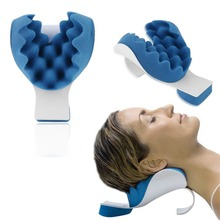 Neck Support Tension Reliever Massager Pillow Head Shoulder Relaxer Muscle Relieves Tightness Soreness Theraputic