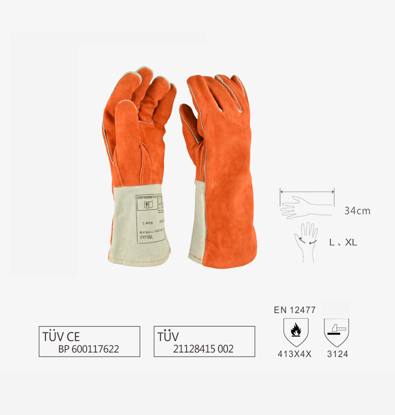 Free Ship 5 Pairs Weldas Long Cowhide Welding Gloves Welders High Temperature Fire Resistance Safety Leather Working Gloves drop shopping leather canvas abrasion safety working welder gloves mechanical working leather welding gloves