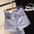 Coreano Moda Cintura Alta Shorts Feminino Shorts Jeans para As Mulheres Plus Size Shorts Jeans S269