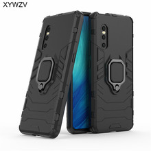For Vivo X27 Case Shockproof Armor Silm Metal Finger Ring Holder Phone Protective Back Cover ViVO