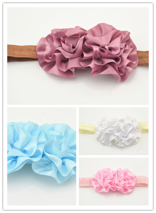 4pcs lot Colors Fashion Beautiful Children Flower Hair Band Baby Cute Hair Hoop Boutique Head Band