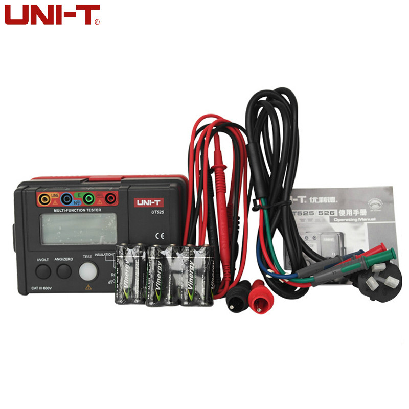 UNI-T UT525 Multi-Functional Digital Electrical Insulation Tester Earth Resistance Meter+RCD Tester+Continuity+VAC/DC (4 in 1)