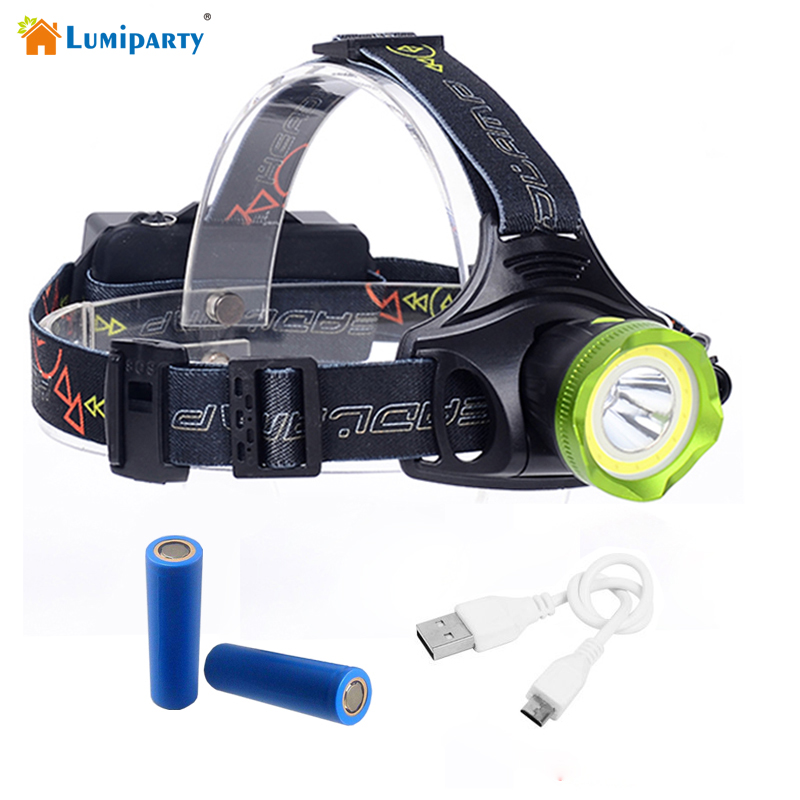 LumiparyXM-T6 COB LED Scheinwerfer 8000Lumnes Scheinwerfer Scheinwerfer Lichter Beleuchtung Für 2 * 18650Batterie Mit USB Kabel
