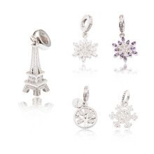 High quality 925 Silver Crystal Radiant Hearts Charm Fit Europe Original Pandora Charm Bracelet Jewelry Gift js1478