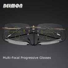 Belmon רב מתקדמת מוקד קריאת משקפיים גברים נשים ללא שפה Presbyopic יוניסקס Diopter משקפיים + 1.0 + 1.5 + 2.0 + 2.5 + 3.0 RS790