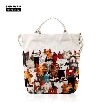 Women Messenger Bags High Quality Women Fashion 2018 Canvas Tote Bag Fashion Cute Print Ladies Handbag Girl Beach schoudertas tote bag