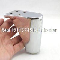 4pcs Set 100mm Metal Furniture Cabinet Legs Tea Table Bed Chair Sofa Leg Feet
