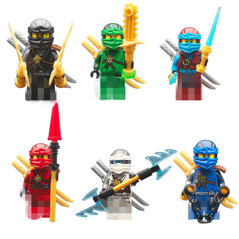 compatible legoinglys Ninjagoinglys model figures with arms Building Blocks Lloyd Zane Kai Nya Jay Cole toys for children gift
