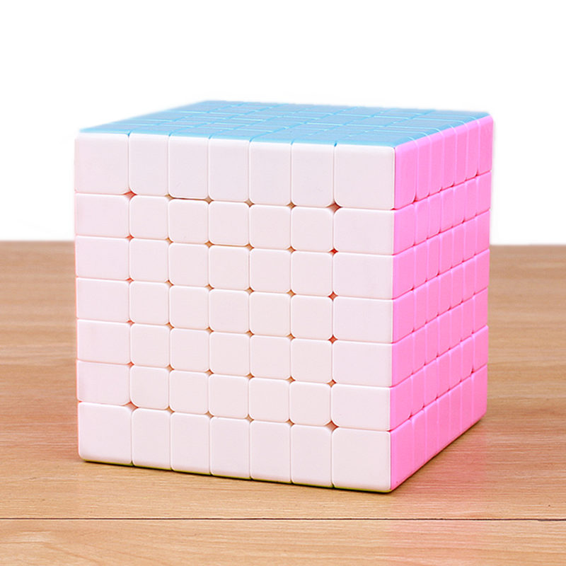 7X7x7 Colorful Magic Cube Brain Teaser Adult Releasing Pressure stickerless Puzzle Speed Cube For Children Gift Education Toy