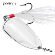 цена на POETRYYI  Fishing Lures Wobbler Spinner Baits Spoons Artificial Bass Hard Sequin Paillette Metal Steel Hook Tackle Lures Y30