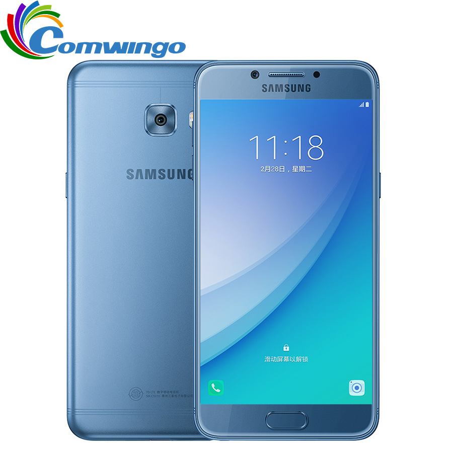 "Original Samsung Galaxy C5 Pro C5010 4G RAM 64G ROM Qualcomm Octa Core Fingerprint Dual SIM 5.2"" 16MP 4G LTE Mobile Phone"