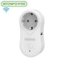 Régua de Energia Eletrônica sem Fio Interruptor do Temporizador Ntonpower S2 Tomada Inteligente Wifi Controle Remoto Plugue DA UE Usb de Parede Casa