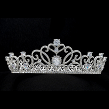 Big Size Royal Wedding Bride Crown Tiara Hair Accessories Jewelry Pageant Genuine Austrian Crystals SHA8778