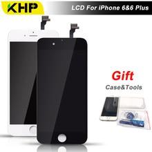 100% KHP AAAA Calidad 6 Más LCD Para iPhone 6 Más pantalla LCD de Repuesto de Pantalla Táctil Digitalizador de Pantalla Con la Caja de Herramienta Del Kit regalo