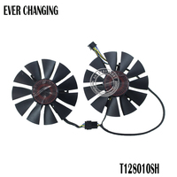 2pcs/lot T128010SH DC 12V 0.25A 75mm VGA Fan For  ASUS STRIX GTX1060 1050 GTX960 GTX950 GTX750Ti R9 370 Graphics Card Fan 4Pin