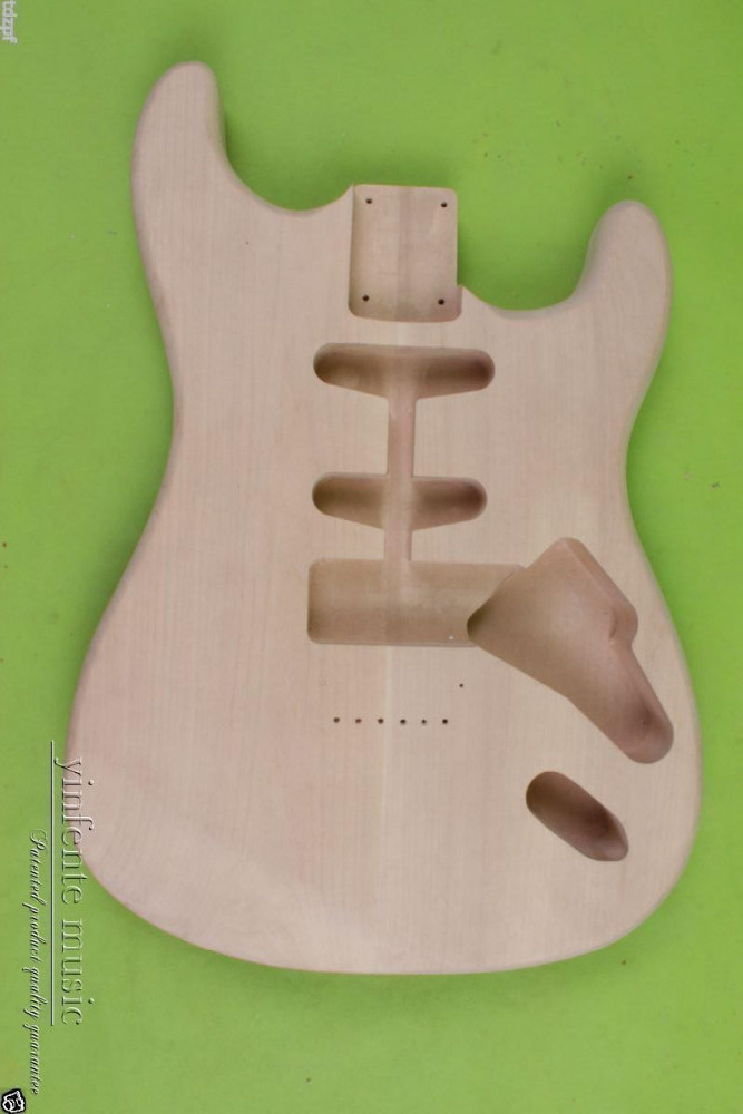 New Solid Body DIY electric guitar Body Replace mahogany Unfinished #851 HHS OR SSH new electric guitar body solid body diy mahogany flame maple veneer replace 860