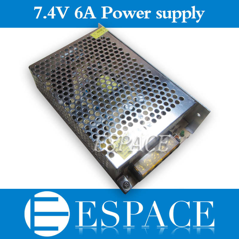 d175e21baf1ac Melhor qualidade 7.4 V 6A 45 W Comutação Driver Fonte de Alimentação AC  100-240 V de Entrada para DC 7.4 V frete grátis
